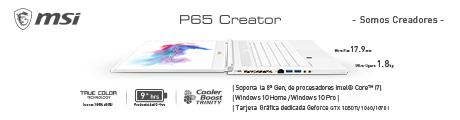 MSI P65 Banner