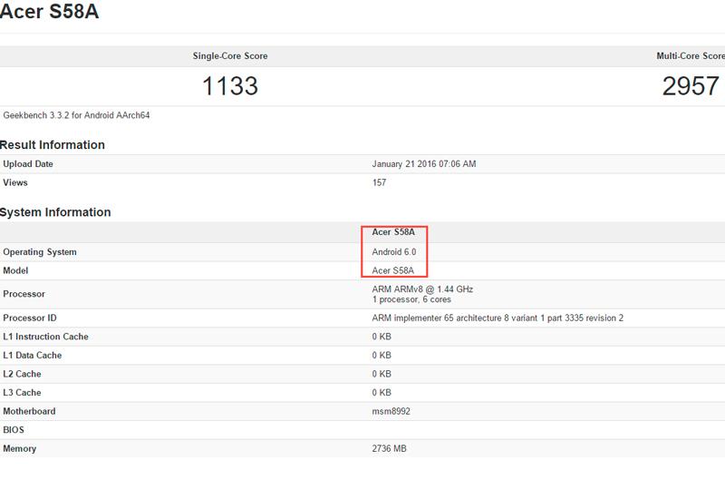 Acer lanzará una versión del Jade Primo con Android Marshmallow, Imagen 2