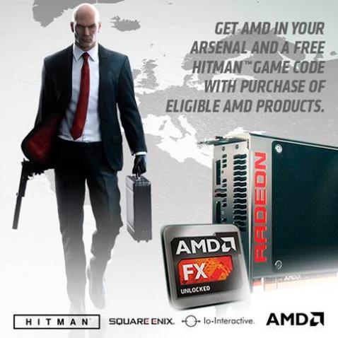 AMD ofrecerá el Hitman 2016 con sus gráficas Radeon R9 390 series y procesadores FX, Imagen 1