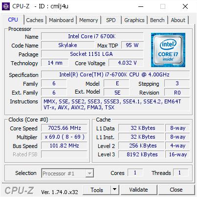 Nuevo record mundial de velocidad con un Intel Core i7-6700K a más de 7.000 MHz , Imagen 2