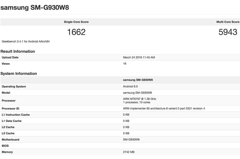 Aparece un Galaxy S7 con un procesador Mediatek Helio X20, Imagen 1