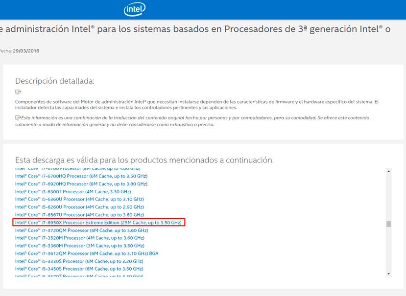 Filtrado el Intel Core i7-6950X para LGA 2011-v3 con 10 núcleos, Imagen 1