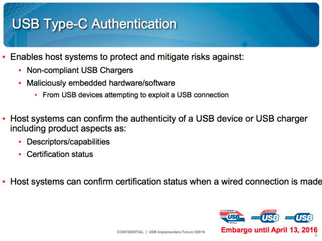 Los dispositivos con USB-C podrán reconocer si se les conecta un cable certificado, Imagen 1