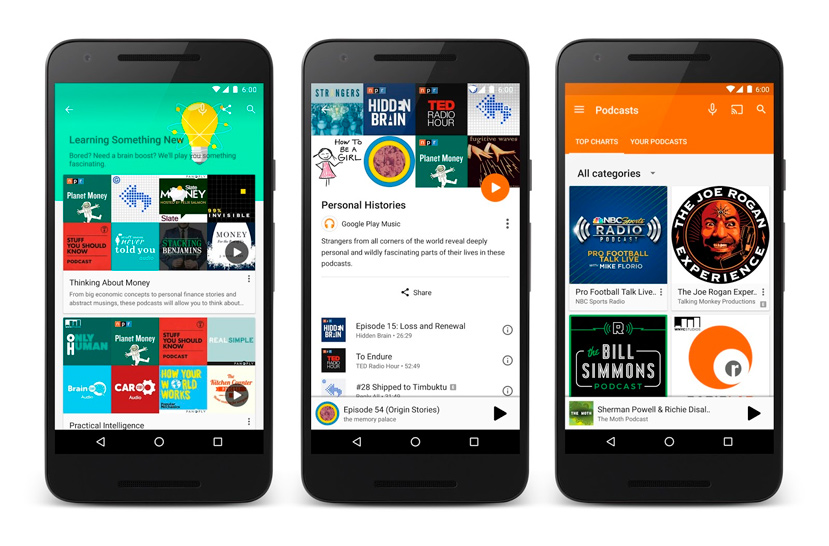 Llegan los PodCast a Google Play Music, Imagen 1