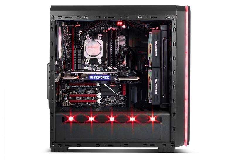 NOX Hummer MC, una torre gaming con iluminación LED multicolor por menos de 50 euros., Imagen 2