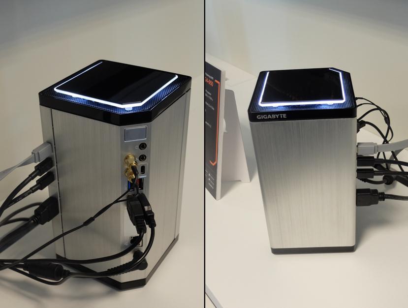 Gigabyte muestra un PC ultracompacto con gráfica dedicada y procesador Skylake, Imagen 1