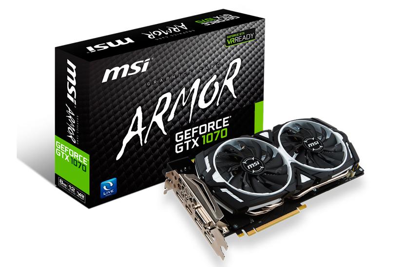 MSi anuncia el lanzamiento de 4 GTX 1070 personalizadas, Imagen 1