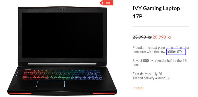 Aparece el primer portátil con una GTX 1080M, Imagen 1