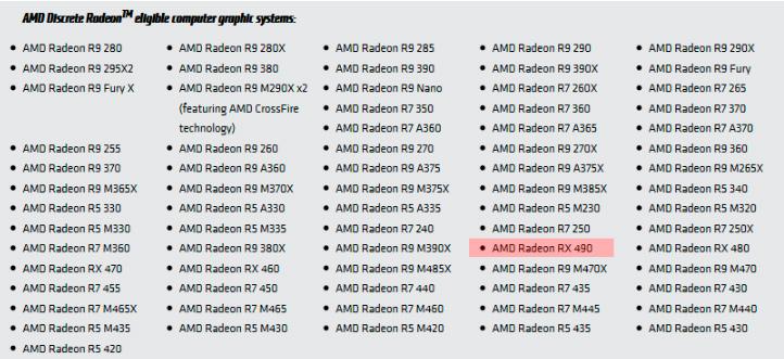 Aparece la Radeon RX490 en la web de AMD, Imagen 1