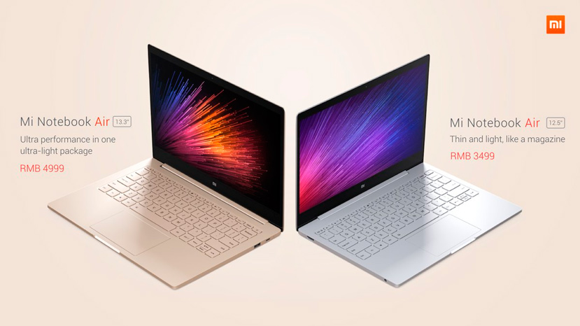El Xiaomi Mi Notebook Air de 12,5
