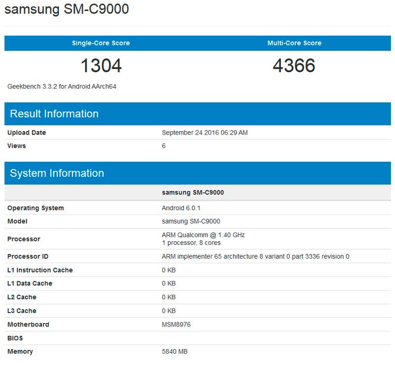 El Samsung Galaxy C9 contará con 6 GB de RAM, Imagen 1