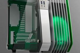 Enermax lanza su llamativa torre SteelWing para placas microATX
