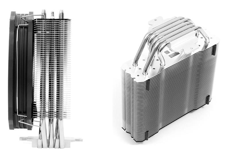 El disipador Thermalright TRUE Spirit 140 Direct utiliza 5 heatpipes de contacto directo con la CPU, Imagen 1