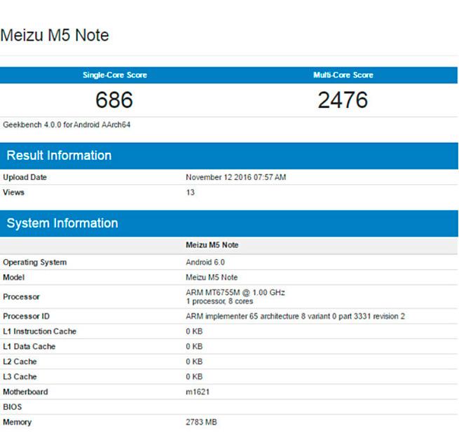 Meizu trabaja en el M5 Note, un smartphone de gama de entrada, Imagen 1