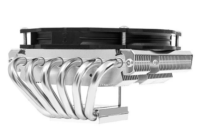 El disipador Thermalright AXP-100H combina 6 heatpipes en un formato de perfil bajo, Imagen 1