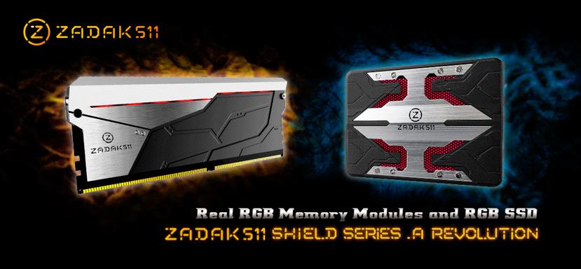 ZADAK511 integra luces RGB en sus memorias RAM y SSD, Imagen 1