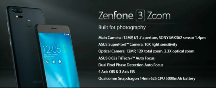 ASUS ZenFone 3 Zoom con doble cámara, Imagen 1