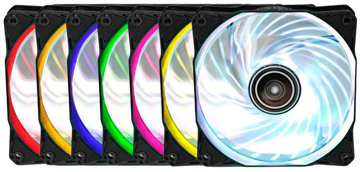 Ventiladores Antec Rainbow 120 con iluminación RGB, Imagen 1