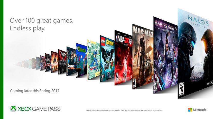 Microsoft anuncia Xbox Game Pass, más de 100 juegos por 10 Dólares al mes, Imagen 1