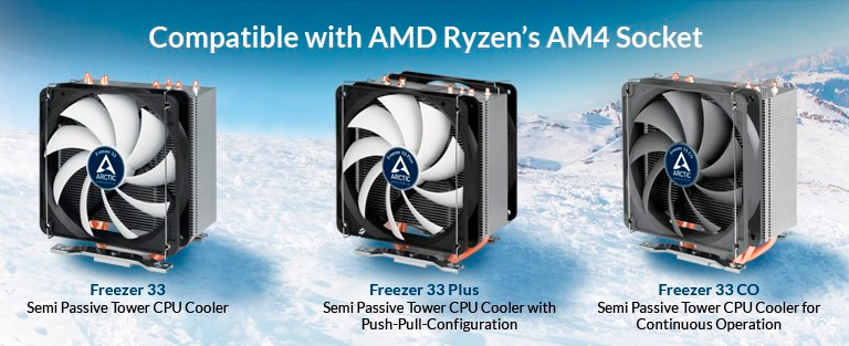 Los disipadores Arctic Freezer 33 llegan con soporte para AM4 y otros sockets, Imagen 2