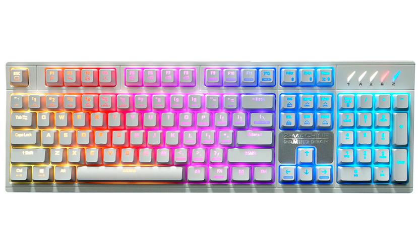 Blanco puro para el teclado mecánico ZM-K900M de Zalman, Imagen 2