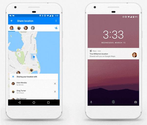 Podremos compartir nuestra posición con contactos en Google Maps, Imagen 1