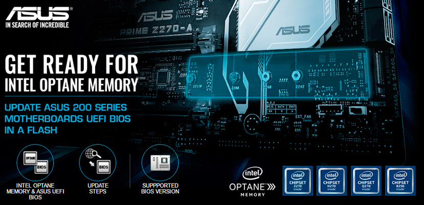 Las placas base ASUS con chipset Intel 200 ya soportan Intel Optane Memory, Imagen 1
