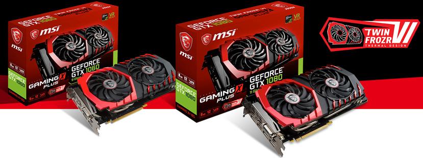 MSI aumenta las frecuencias de sus GTX 1080 y GTX 1060 Gaming X+, Imagen 1