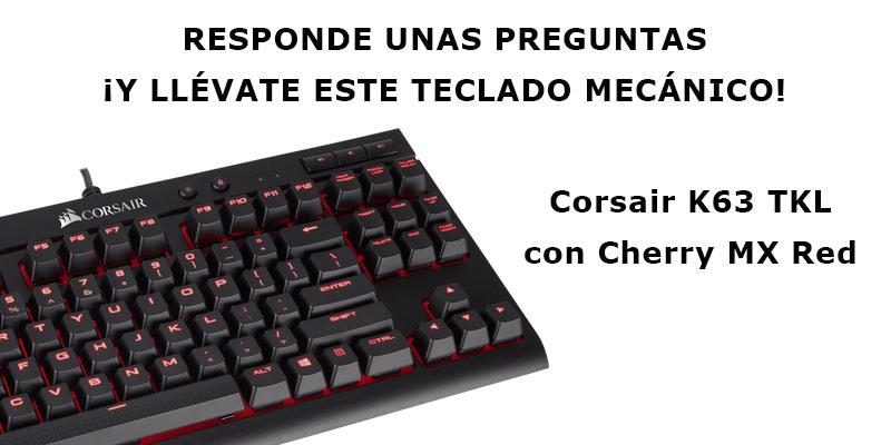 Regalamos el teclado gaming Corsair K63 TKL por responder una encuesta, Imagen 1