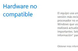 Elimina el mensaje de hardware no compatible en Windows.