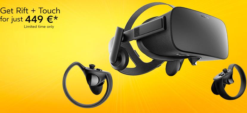 Oculus rebaja más de 200 Euros sus gafas Rift+mandos touch, Imagen 1