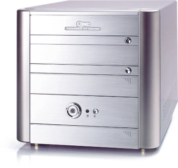 Pequeño barebone EQ3801 de QBIC con AMD 64, Imagen 1