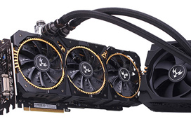 La Colorful GTX 1080 Ti Kudan tiene tres ventiladores y un sistema de refrigeración líquida a la vez