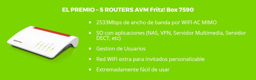 Regalamos 5 routers avanzados FRITZ!Box 7590 valorados en 300 Euros cada uno!, Imagen 1