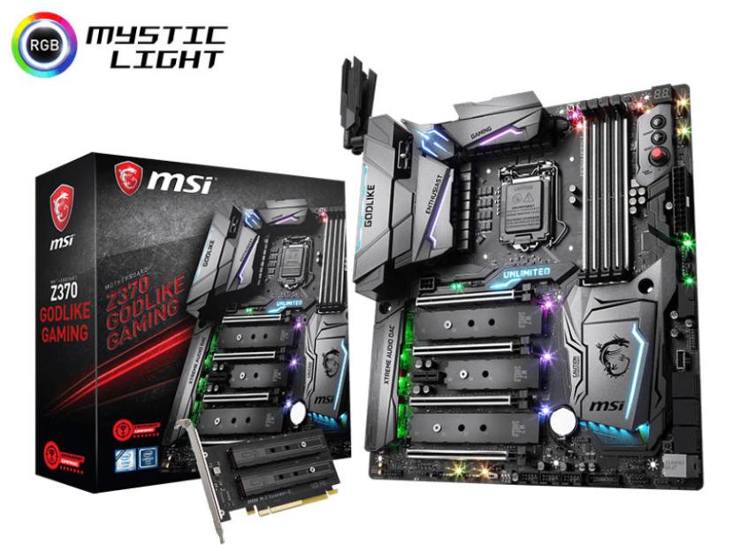 La MSI Z370 GODLIKE Gaming llega con cinco puertos M.2 PCIe X4 y cuatro tarjetas de red, Imagen 1
