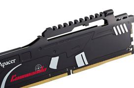 Memorias DDR4 Apacer Commando con disipador en forma de fusil de asalto