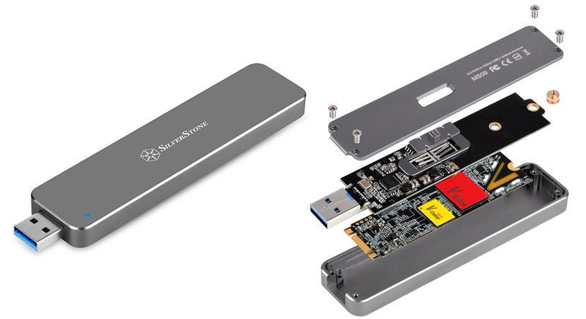SilverStone quiere que conviertas cualquier SSD M.2 en un Pendrive USB, Imagen 1