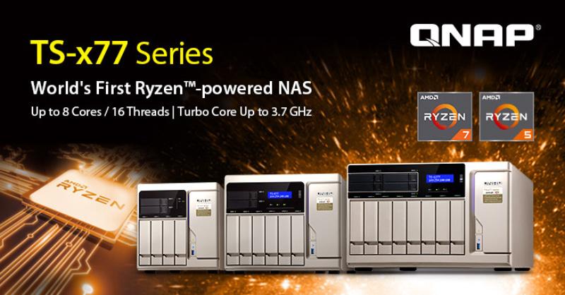 QNAP anuncia el primer NAS con procesadores AMD RYZEN , Imagen 1