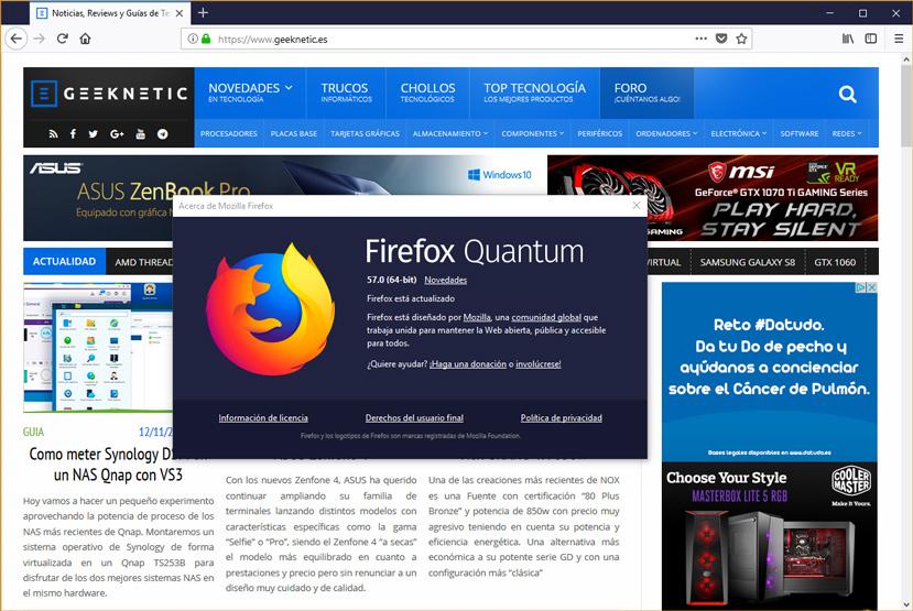 Firefox Quantum, más ligero y más rápido que nunca, Imagen 1