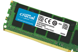 Crucial sorprende con un módulo de memoria DDR4 de 128 GB