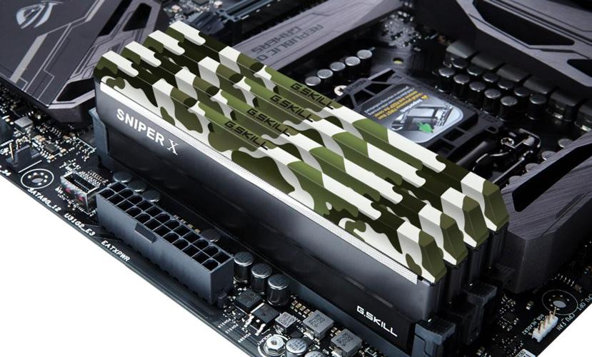 G.SKILL estrena sus módulos de memoria DDR4 Sniper X con acabado de camuflaje, Imagen 2