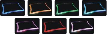 Alterna los siete colores de alfombrilla luminosa de Thermaltake con sus 12 leds, Imagen 2
