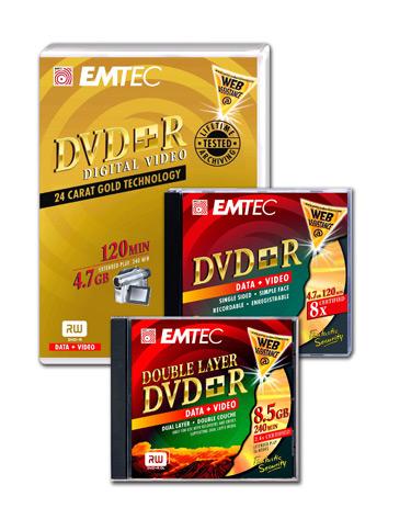 EMTEC renueva su gama de DVD+R, Imagen 1