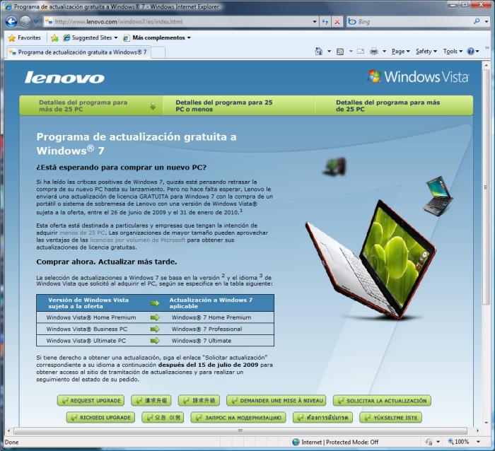Compra Vista y llévate Windows 7, Imagen 1
