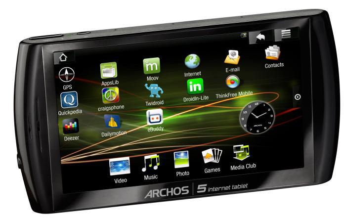 Archos Internet Tablet 5 ya disponible, Imagen 1