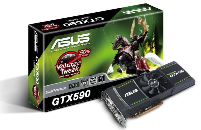 ASUS Nvidia Geforce GTX 590, Imagen 1