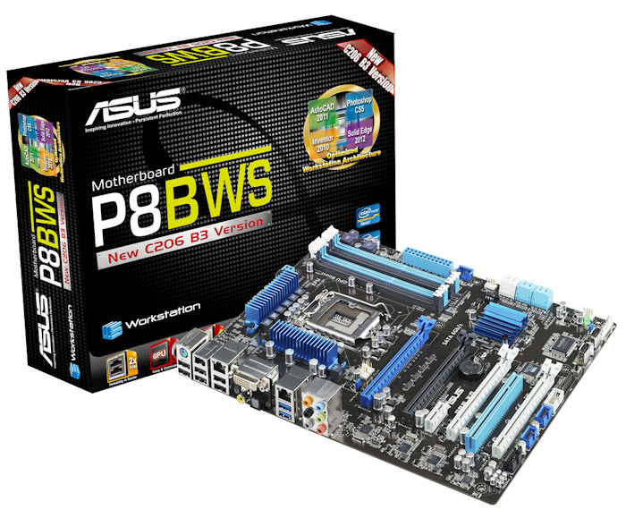 Placa P8BWS de ASUS. Con el nuevo chipset C206, el Z68 profesional, Imagen 1