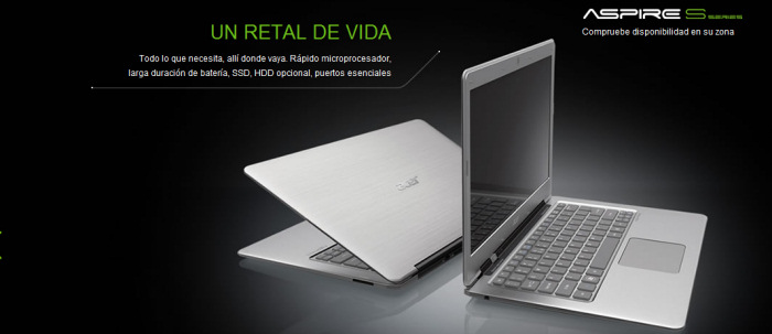 Nuevo Ultrabook Acer S3, Imagen 2