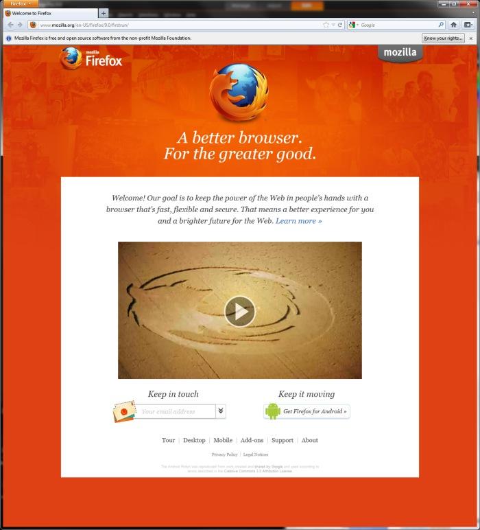 Firefox sigue con su ritmo de versión cada dos meses. Ahora la 9, Imagen 1