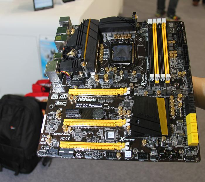 Computex 2012. ASRock. Placas base Z77, Imagen 2